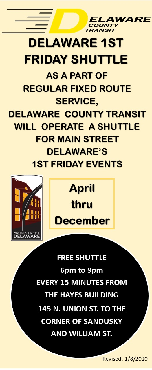 1st Friday Shuttle–Delaware County Transit