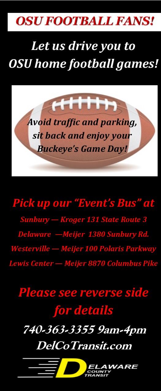Bus It To Buckeye's Football Games